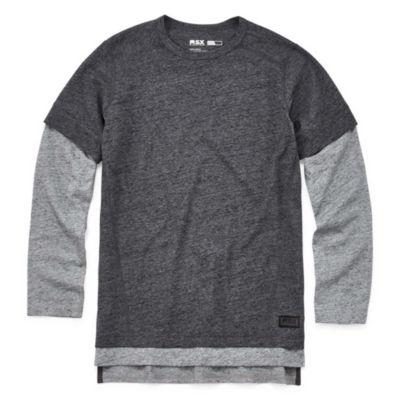 Msx By Michael Strahan Long Sleeve Crew Neck T-Shirt-Big Kid Boys