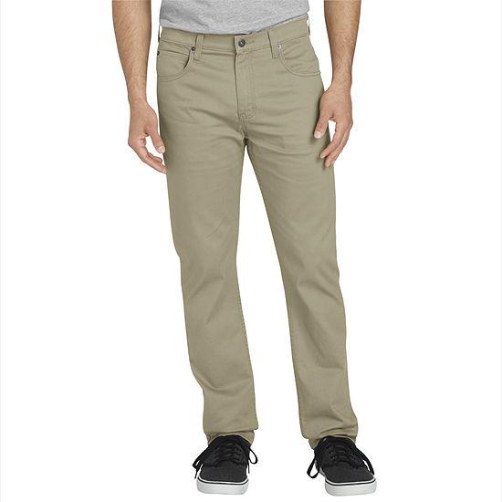 Dickies Mens Mid Rise Slim Fit Flat Front Pant