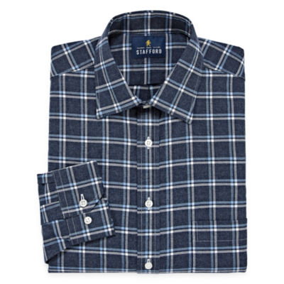 Stafford Long Sleeve Twill Grid Dress Shirt