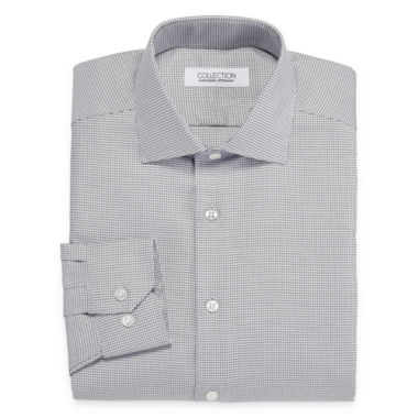 Collection by Michael Strahan Wrinkle-Free Cotton Stretch Long Sleeve Dress Shirt Woven Grid - Big & Tall