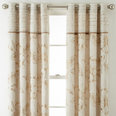 Home Expressions Gold Reversible Rod Pocket Curtain Panels