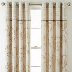 Home Expressions Gold Reversible Grommet Curtain Panels
