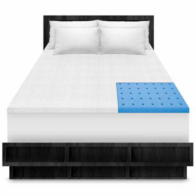 "SensorPEDIC® Coolest Comfort 1.5"" Memory Foam Topper"