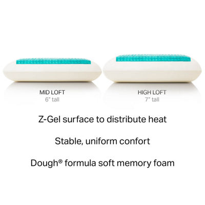 Malouf Z Dough Memory Foam + Liquid Z-Gel Pillow - High Loft, Plush