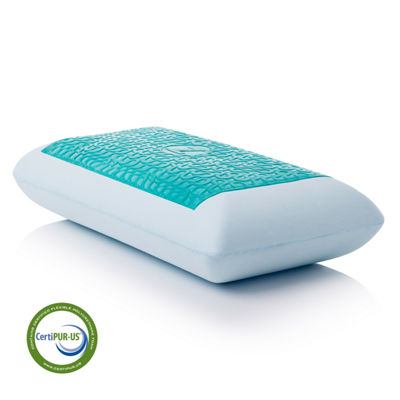 Malouf Z Gel Infused Dough Memory Foam + Liquid Gel Pillow - Mid Loft Plush