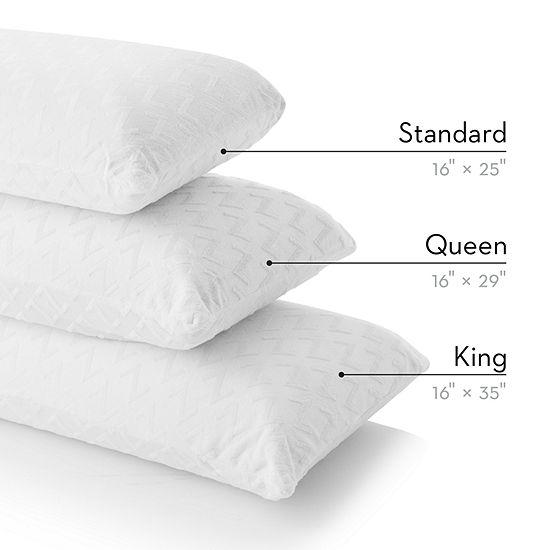 Malouf Z Zoned Dough Memory Foam + Bamboo Charcoal Pillow - Mid Loft Plush
