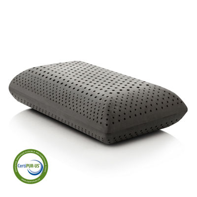 Malouf Z Zoned Dough Memory Foam + Bamboo Charcoal Pillow - High Loft Plush