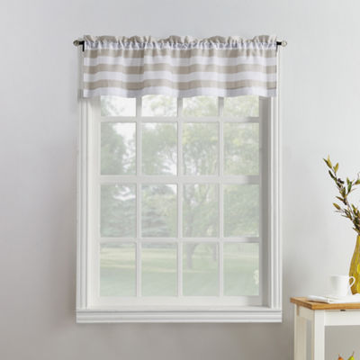 Roe Stripe Rod-Pocket Kitchen Valance