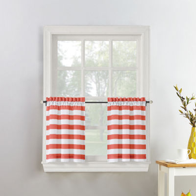 Roe Stripe Rod-Pocket Window Tiers