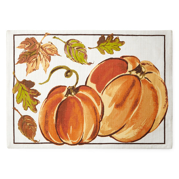 JCPenney Home Pumpkin Patch Set of 4 Placemats