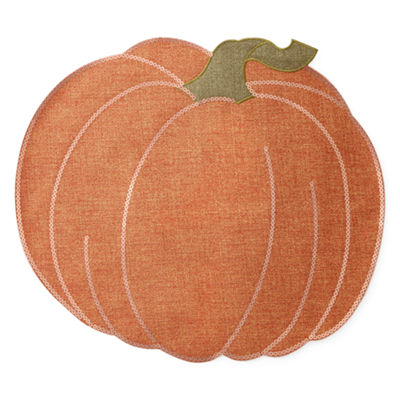 JCPenney Home Harvest Pumpkin 4-pc. Placemat
