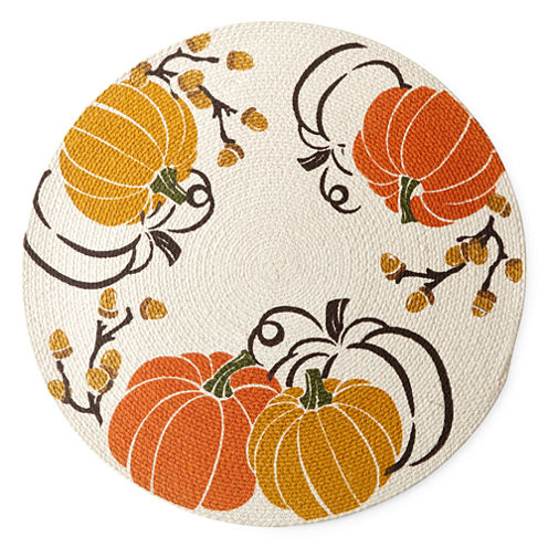 JCPenney Home Pumpkins And Acorns 4-pc. Placemat