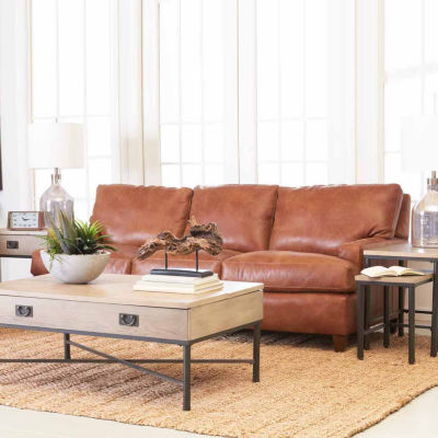Calan Track-Arm Leather Sofa
