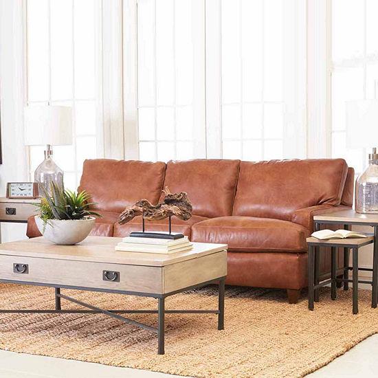 Calan Track-Arm Leather Sofa