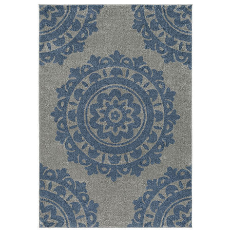 Decor 140 Hyvale Rectangular Indoor Rugs, One Size , Blue