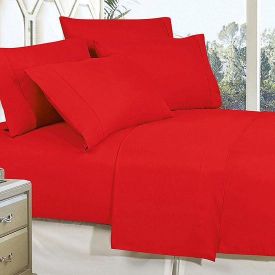 Elegant Comfort Wrinkle Free Silky Soft Bed Sheet Set with 16 inch Deep Pocket