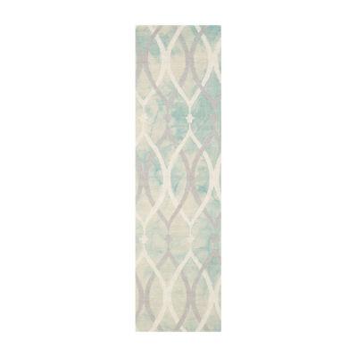 Safavieh Dip Dye Collection Harlan Geometric Runner Rug