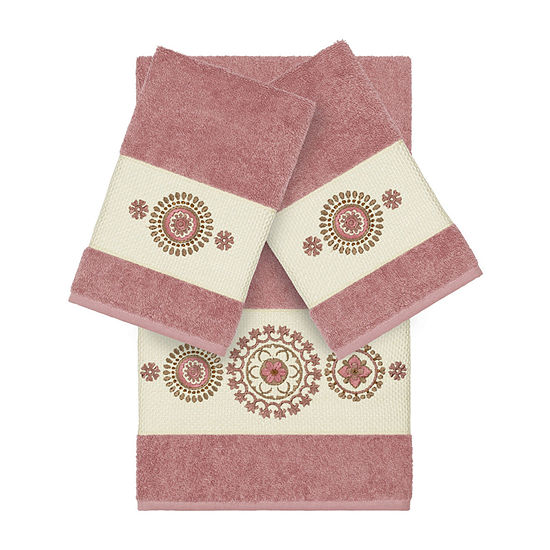 Linum Home Textiles 100 Turkish Cotton Isabelle 3pc Embellished