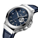 JBW Saxon 48 1/6 Ct. T.W. Genuine Diamond Mens Diamond Accent Blue Leather Strap Watch-J6373b