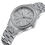 JBW Cristal 1/8 Ct. T.W. Genuine Diamond Womens Diamond Accent Silver Tone Stainless Steel Bracelet Watch-J6383c