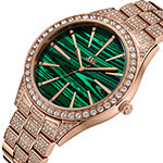 JBW Cristal Gem 18K Rose Gold Over Stainless Steel 1/8 C.T. T.W. Genuine Diamond Bracelet Watch-J6382b