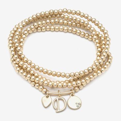 a.n.a Personalized Initial Jewelry 4-pc. Stretch Bracelet