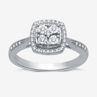 LIMITED TIME SPECIALl! 1/10 CT. T.W. Genuine Diamond Ring in Sterling Silver - SIZE 7