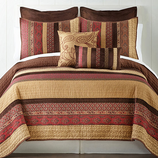 Home Expressions™ Paisley Stripe Quilt