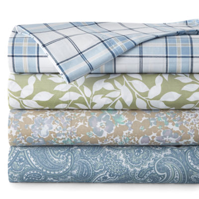 JCPenney Home 300tc Cotton Blend Easy Care Print Set of 2 Pillowcases
