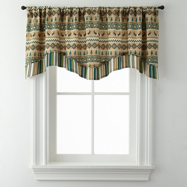 Lodge Elements Double Layer Rod-Pocket Valance