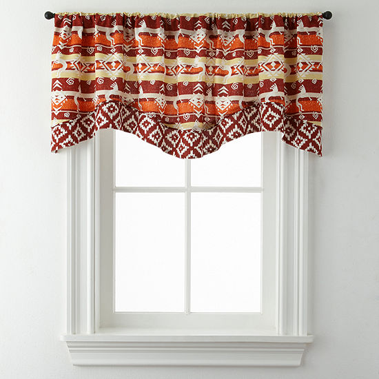 Kokopeli Double Layer Rod-Pocket Valance