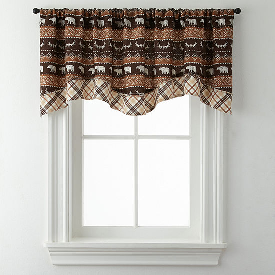 Bear Trail Double Layer Rod-Pocket Valance