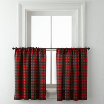 Jackson Plaid Rod-Pocket Window Tiers