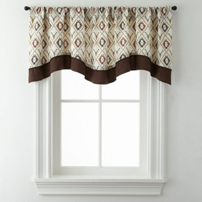 Cabin Trellis Rod-Pocket Valance