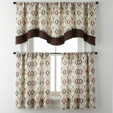 jcpenney.com | Cabin Trellis Rod-Pocket Kitchen Curtains