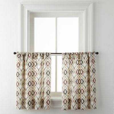 Cabin Trellis Rod-Pocket Window Tiers