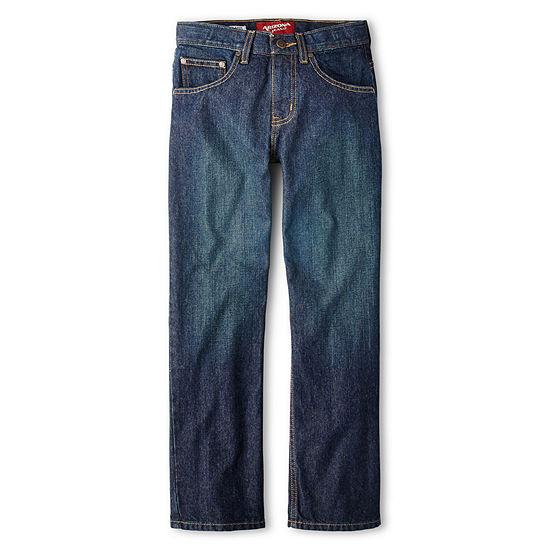 Arizona Relaxed Fit Jeans Boys 4-20, Slim & Husky