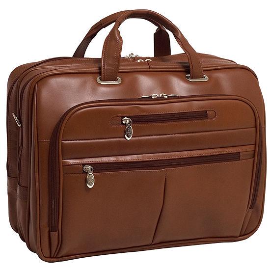 Mckleinusa Rockford 156 Leather Fly Through Checkpoint Friendly Laptop Briefcase
