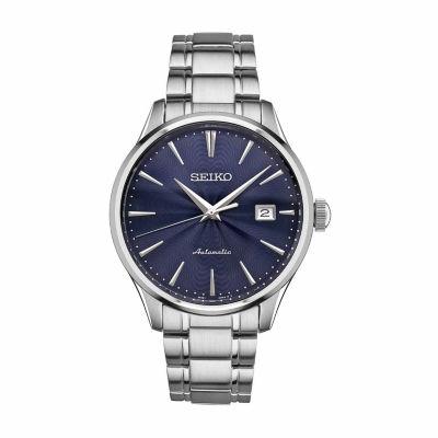 Seiko Mens Silver Tone Bracelet Watch-Srpa29