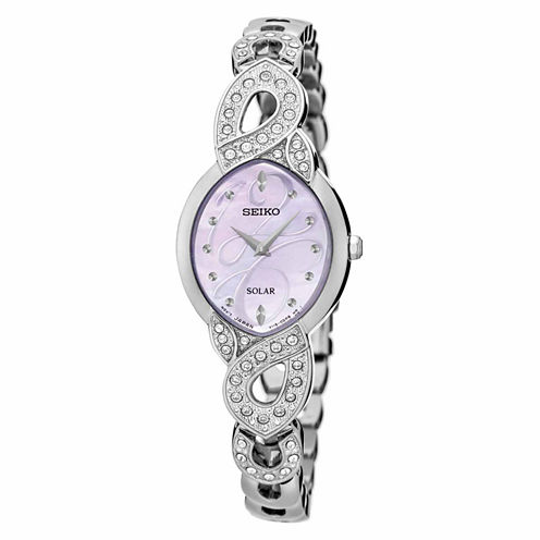 Seiko Womens Silver Tone Bracelet Watch-Sup339