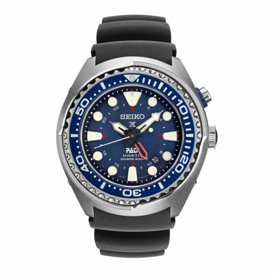 Seiko Dive Mens Blue Strap Watch-Sun065
