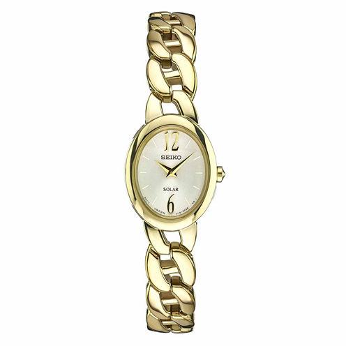 Seiko Womens Gold Tone Bracelet Watch-Sup338