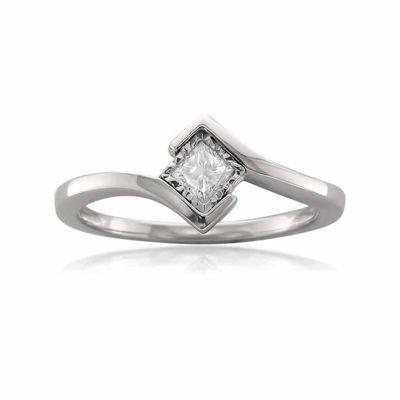 Promise My Love Womens 1/5 CT. T.W. White Diamond 14K Gold Promise Ring