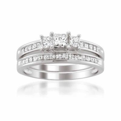 Womens 1 CT. T.W. Diamond 14K Gold Bridal Set