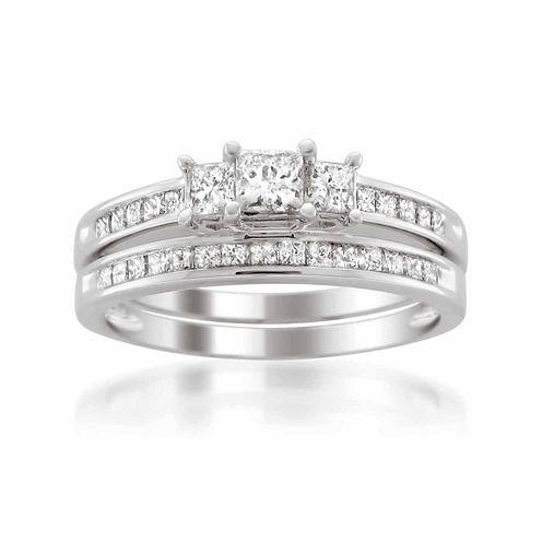 Womens 1 1/2 CT. T.W. White Diamond 14K Gold Bridal Set