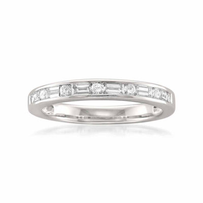 Womens 2.5 Mm 1/2 CT. T.W. White Diamond 14K Gold Wedding Band