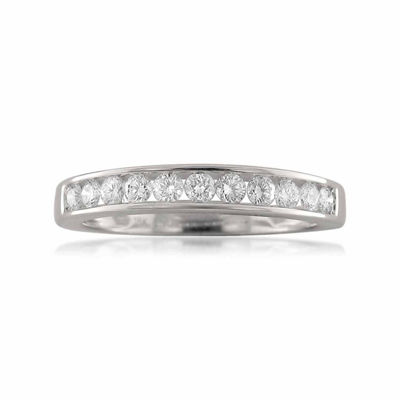 Womens 1/2 CT. T.W. White Diamond 18K Gold Wedding Band