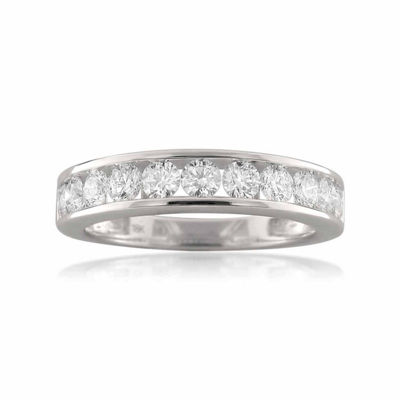 Womens 3 5 Mm 1 Ct T W White Diamond 18k Gold Wedding Band Jcpenney