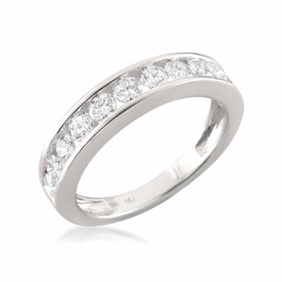 Womens 3.5 Mm 1 CT. T.W. White Diamond 18K Gold Wedding Band