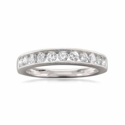 Womens 1 CT. T.W. White Diamond 18K Gold Wedding Band
